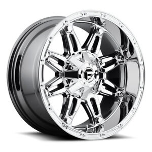 4 18x9 Fuel Hostage D530 5 6 8 Lug New Chrome Wheels Rims Free Caps