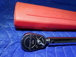 Snap on 1 2 Drive Torque Wrench 50 250 Ft Lbs Qc3r250 Like New Usa Snapon