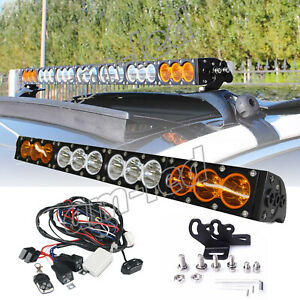 Single Row Led Light Bar Amber White Strobo Spot Flood Off Road Driving Lamp 4wd