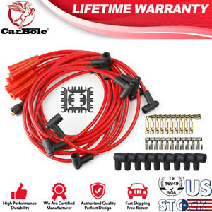 4040 Silicone 8mm Ignition Spark Plug Wires Sets For Ford Chevy Sbc Bbc Hei 8mm