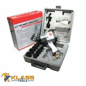 1 2 Air Impact Wrench With 10 Piece Socket Set