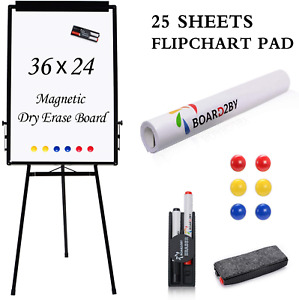 Magnetic Whiteboard Easel Stand Upgraded 24 X 36 Inch Dry Erase White Board 2 6