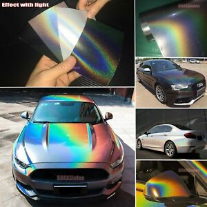 Car Iridescence Mirror Chrome Holographic Chameleon Laser Vinyl Wrap Sticker Us
