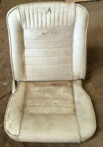 1965 1966 Other Ford Mustang Pony Coupe Conv Fb Front Rh Bucket Seat Oem White