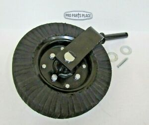 Rotary Cutter Tail Wheel Assembly With 1 1 4 Shaft Heavy Duty 1 Piece Fork