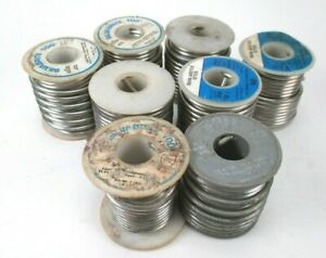 8 Rolls Silvabrite 100 Lead Free Solder Wire 95 6 And 95 5sb 125 7lb
