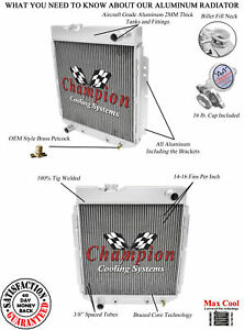 2 Row Reliable Champion Radiator For 1965 1966 Ford Mustang L6 Engine ec251 6