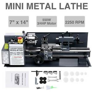 7 X 14 mini Metal Lathe Bed Machine 550w 2250 Rpm 3 4hp Metalworking Dc Motor