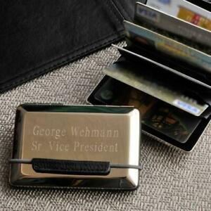 Personalized Business Card Holder Expandable Executive Gifts