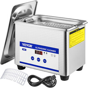 800ml 0 8l Ultrasonic Cleaner Digital Sonic Cleaning Equipment Stainless Steel