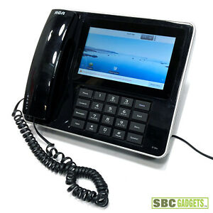 Rca Ip150 6 Line Multimedia Voip Phone 7 Touchscreen Display Android Os