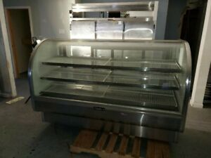 Leader Mcb77 77 Inch Curved Glass Refrigerated Bakery deli Display Case
