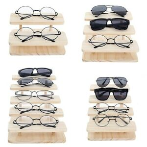 Assembleable Bamboo Sunglasses Stand Glasses Display Jewelry Holder Bracele G6t3