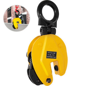 1ton Industrial Vertical Plate Lifting Clamp Steel 2204lb Wll Heavy Duty