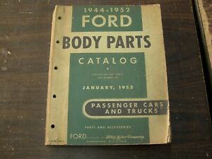 Oem Ford 1944 1952 Car Truck Master Body Parts Book Catalog 1948 1949 1950 1951