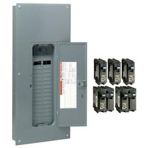 Square D Main Breaker Box Value Pack Kit 200 Amp 30 space 60 circuit 120 240v