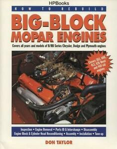 How To Rebuild Big Block Mopar Engines Book 383 400 413 426 Hemi 440 B Rb New