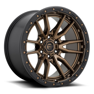4 18x9 Fuel Rebel 6 D681 6 Lug New Bronze Black Wheels Rims Free Caps Lugs