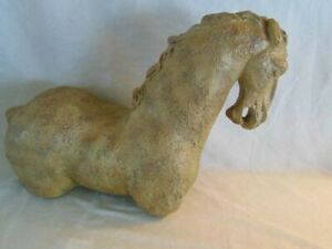 Mid Century Horse Sculpture Plaster Pottery Similar To Austin Productions