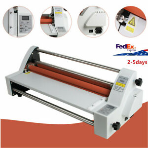 Hot Cold Roll Laminator Laminating Machine Single dual Sided 17 110v 450mm Ups
