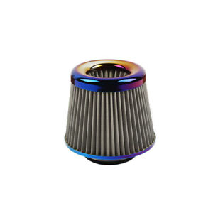 Jdm Neo Chrome 3 76mm Power Intake High Flow Cold Air Intake Filter Cleaner
