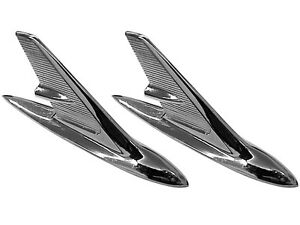 1960 Chevrolet Fullsize Passenger Car Fender Top Ornaments Bel Air Biscayne Pair