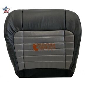 2001 2003 F150 Harley Davidson Driver Bottom Seat Cover 2 Tone Black Gray