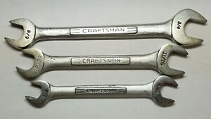 3 Pc Craftsman Wrenches V Open End 5 8 3 4 1 2 Vintage Forged In Usa 7