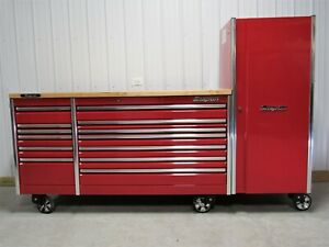 Snap On Candy Apple Red All Drawer 84 Epiq Tool Box Hardwood Top