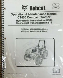 Bobcat Ct450 Compact Tractor Operation Maintenance Manual Owner s 2 6987087