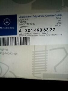 New Oem Mercedes C300 C350 Exhaust Tail Pipe Tip Left Driver Side A2044906327