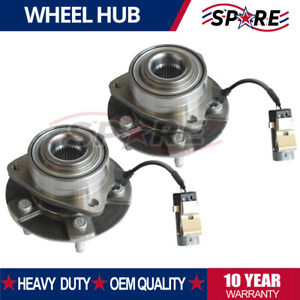 Pair Of 2 Front Wheel Hub Bearing Assembly New For Equinox Torrent Vue W Abs