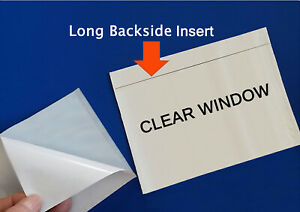 500 Clear Packing List Large 7x5 5 Enclosed Box Envelopes Sleeve Slips