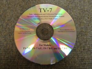 Tv 7 Tube Tester Test Data Calibration Gm Conversion Chart And More Cdrom