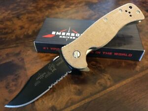 Emerson Knife Sheepdog Bowie BTS S35VN Brown Micarta Action Concepts Exclusive $299.95