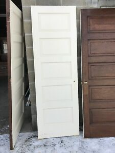 Marw 11 Antique Used White Solid Wood Passage Door 27 75 X 84 X 1 75