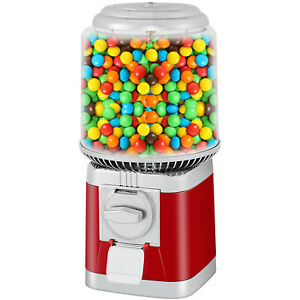 Candy Gumball Machine Bank With Stand Bubble Gum Candy Dispenser 375 Gumball Red