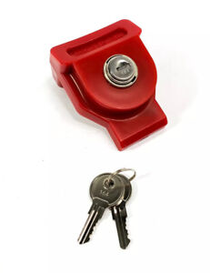 Red Universal Glad Hand Lock With Two Keys Keyed Alike
