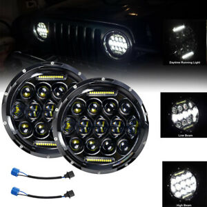 Dot Approved 7 Round 280w Led Headlight Hi low Beam For Jeep Wrangler Jk Tj Cj