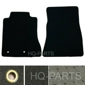 New 2 Pieces Black Nylon Carpet Floor Mats Fit For 15 18 Ford Mustang