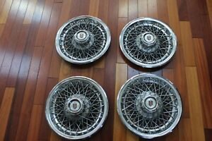 Chevrolet Monte Carlo 4 Wheel Cover Hubcaps 14 Wire Spoke Norris Ind nice