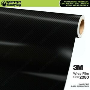 3m 2080 Series Black Carbon Fiber Vinyl Vehicle Car Wrap Film Sheet Roll Cfs12