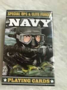SPECIAL OPS AND ELITE FORCES NAVY PLAYING CARDS COLLECTION DECK Resq $8.00