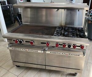 American Range Ar36g 4b 4 Open Burners 36 Griddle 2 Ovens Year 2018 Very Nice