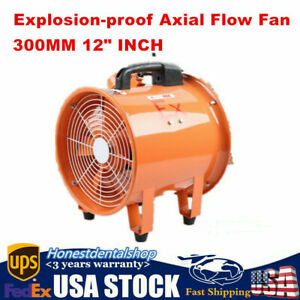 Explosion Proof Fan 12 300mm Utility Blower Automatic Garage Cool Air 4500m h
