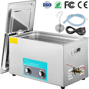 Vevor 30l Ultrasonic Cleaner Stainless Steel 1100w Liter Industry Heated W timer