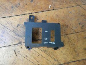 Jeep Yj Wrangler 92 95 Oem Head Light Switch Dash Bezel Insert Free Shipping