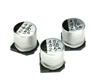 500pcs 470uf 25v Sanyo Cv ax Radial Electrolytic Capacitor Smd Low Impedance