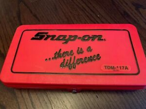 Brand New Snap On 41 Pc Metric Tap And Die Set Tdm117a