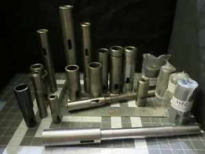 Straight Shank Collets Sleeves Extensions To Morse Taper Arbors Adapters